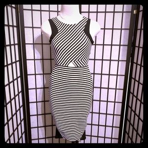 Never Worn Material Girl Striped Bodycon Dress